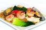 F08. Mì Xào Đồ Biển  Stir Fried Egg Noodle with Seafood