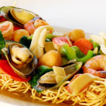 Crispy Egg Noodle with Seafood