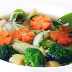 Vegetable Rice Noodle Beef Soup