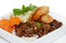 V08. Bún Bò Nướng, Chả Giò  Grilled Beef & Spring Roll