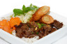 V13. Bún Bò Nướng, Chạo Tôm  Grilled Beef & Shrimp on Sugar Cane