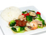 X02. Tôm Thịt Xào Rau Cải  Mix Stir Fried Meat and Seafood
