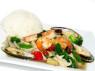 X03. Đồ Biển Xào Rau Cải  Stir Fried Seafood